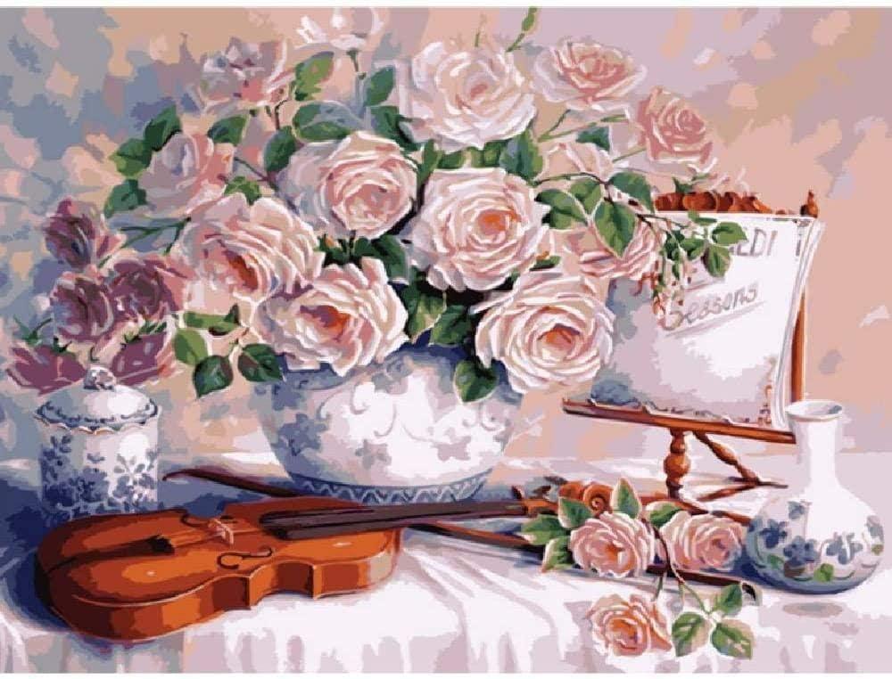 Diy pintura al óleo por números sobre lienzo cuadros de pared modernos para sala del hogar trabajadores migrantes al atardecer paisaje lienzo decoración de la boda de arte regalo 40x50 cm sin marco