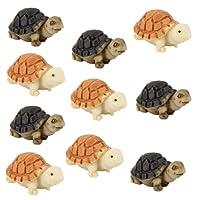 Lot de 10pcs Tortue Miniature Décor pour Micro Paysage Jardin de Fée Bonsaï Bricolage
