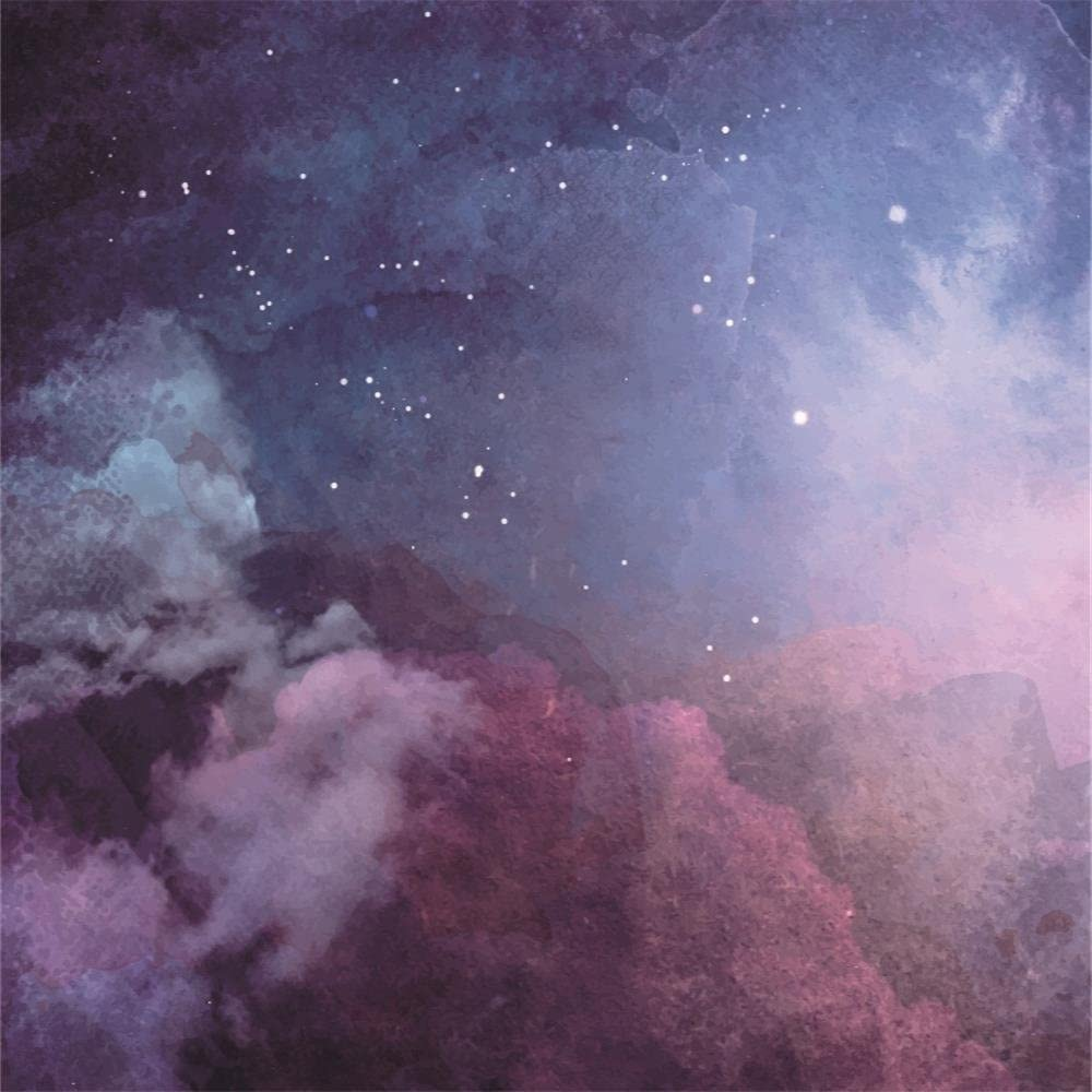 Starry Nightsky Dreamy Nebula Galaxy 10x5ft Polyester Photography Background Shimmering Stars Mysterious Universe Outer Space Backdrop Child Baby Adult Portrait Wedding Shoot Birthday Banner