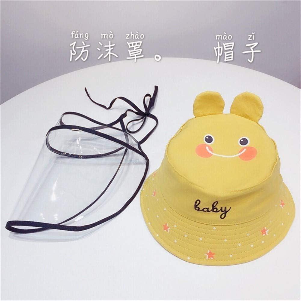 NO LOGO Bambini spruzzata Gocce Anti-Anti-Polvere Cappello Maschera Sole Vento dispositivi di Protezione Color : White
