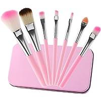 MWOOT 7Pcs Girl Makeup Brushes,Synthetic Fiber Make up Brush Set Foundation Blush Eyeshadow Eyebrow Lip Brush Blending…
