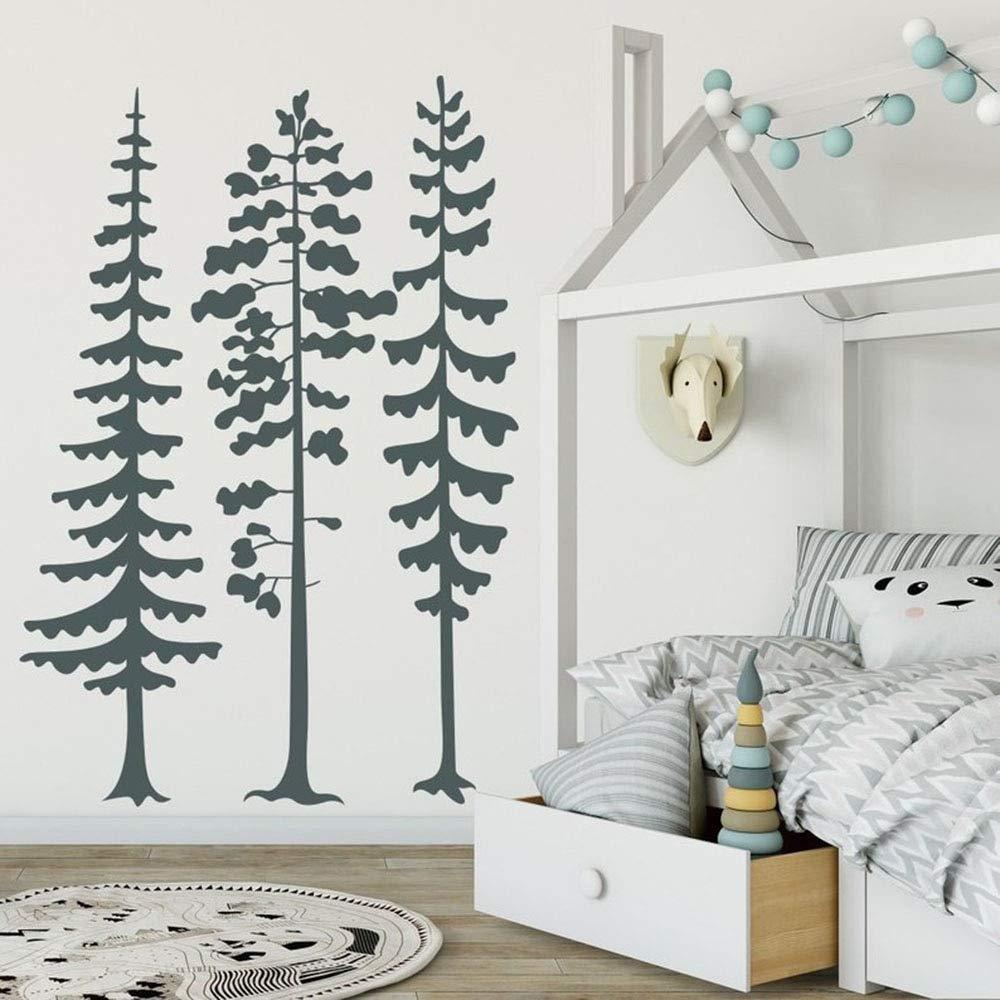 hllhpc Conjunto de 3 árboles Tatuajes de Pared Woodland Nursery ...