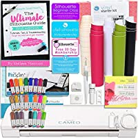 Silhouette CAMEO 3 Bluetooth Starter Bundle with The Ultimate Silhouette Guide Book, Sketch Pens, and Vinyl Kit