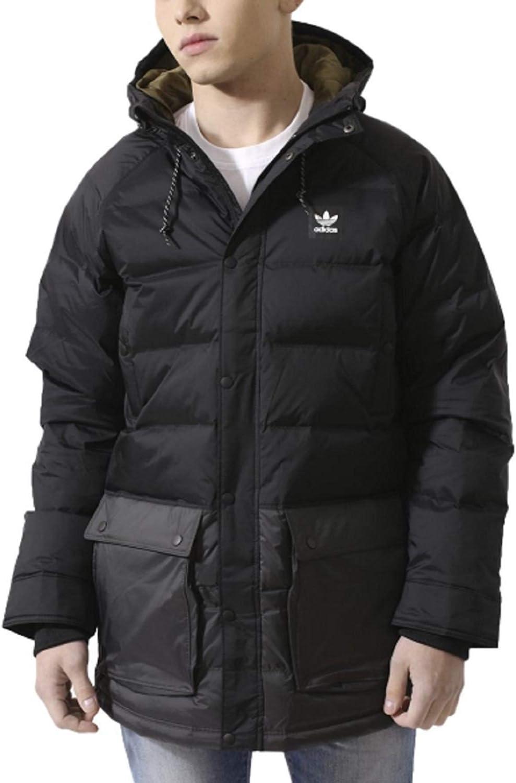 Gran engaño Testificar emoción  Amazon.com: Adidas down jacket black: Sports & Outdoors
