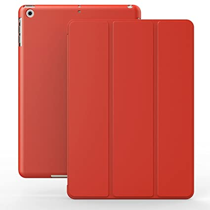 KHOMO Funda iPad Air 2 - Carcasa Roja Ultra Delgada y Ligéra con Smart Cover para Apple iPad Air 2 - Dual Red