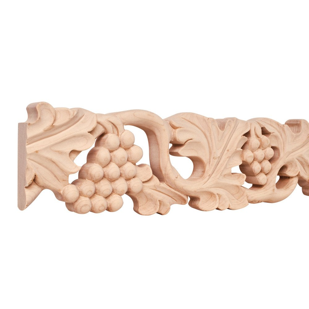 Length Hand Carved Frieze Moulding 4 in Maple 8 ft