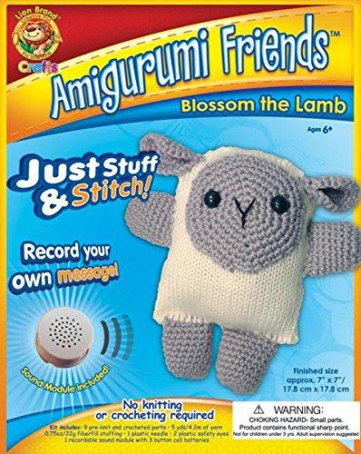 Lion Brand Yarn AFS-AM2 Amigurumi Friends Kit, Blossom The Lamb