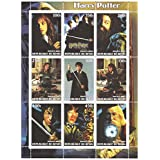 Harry Potter and the Chamber of Secrets stamp sheet for collectors with 9 stamps of Dumbledore, Harry, Ron, Hagrid and Hermione