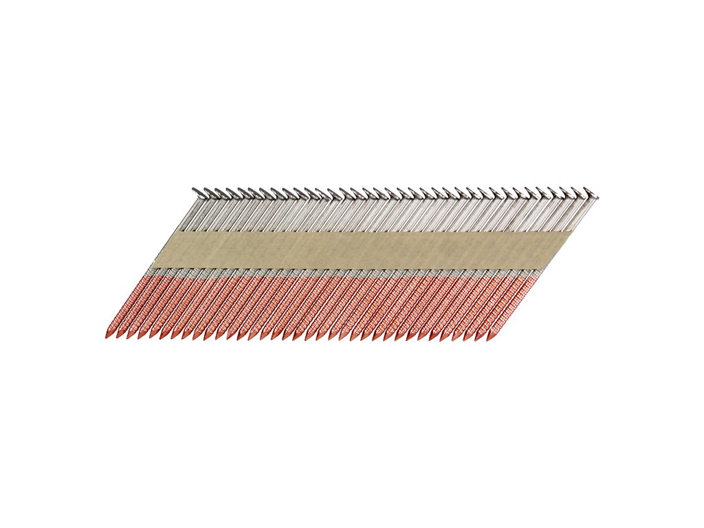 B&C Eagle 2X113HDR/33 Offset Round Head 2-Inch x .131 x 33 Degree Hot Dip Galvaznied Ring Shank Paper Tape Collated Framing Nails (2,500 per Box), 2'' x 0.113'' 2500 Piece