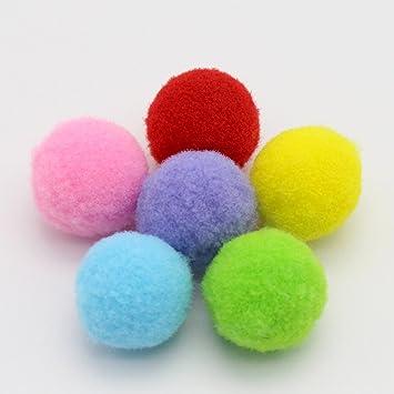 UEETEK 160PCS 3.5CM Juguetes para gatos Clasificado Pelotas de juguete blando bolas de Pompon para Gato Gatito Juguetes(color de la mezcla): Amazon.es: ...
