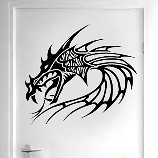 LUANQI Diseño Creativo Cabeza de dragón Etiqueta de la Pared ...