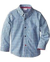 Egg by Susan Lazar Boy's Little Boys' Woven Long-Sleeve Shirt