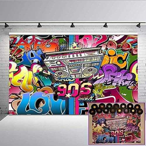 Mehofoto Hip Hop Graffiti Wand Hintergrund 7x5ft 90er Kamera