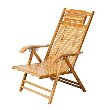 Amazon.com: Silla de salón YNN de bambú para ancianos, silla ...
