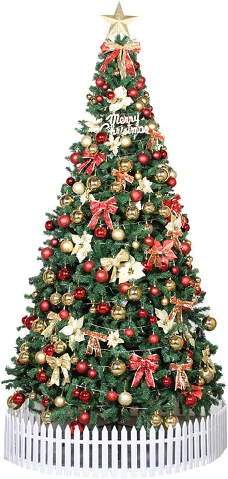 GJP Large Artificial Christmas Tree Pre-Decorated Xmas Tree with Lights Xmas Decorations with Solid Metal Stand National Tree For Holiday Decoration-120CM(47inch) TO