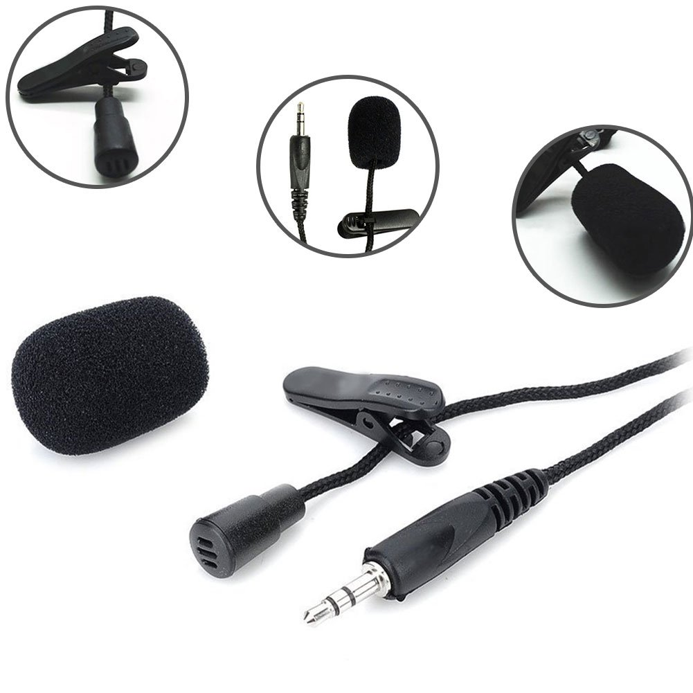 Lavalier Clip Microphone for Lectures Teaching Portable Mini 3.5mm Tie Lapel Mic DAVEVY