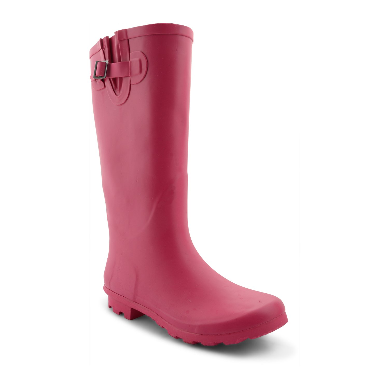 Onlineshoe Women's Flat Wide Calf Wellie Wellington Festival Rubber Rain Boots
