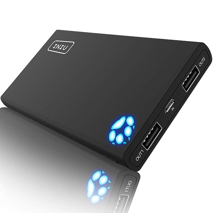 INIU Portable Charger 10000mAh Power Bank High-Speed 2 USB Ports with  Flashlight External Battery 562b7db4f7