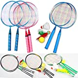 MAZIMARK-1 Pair Youth Children Badminton Rackets Sports Cartoon Suit Toys Hot Selling