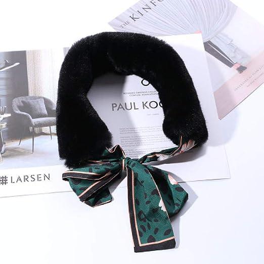kyprx Sombreros de Sol para Mujer Bufanda de Piel sintética para ...