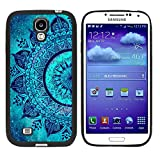 Galaxy S4 Case, Laser Technology for Protective Samsung Galaxy S4 Case Black DOO UC (TM) - The wonderful dream teal Mandala