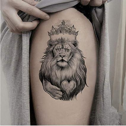 ZHAOHH Lion King Etiqueta Engomada del Tatuaje Temporal Grande ...