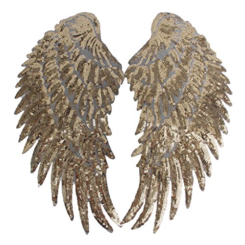 MagiDeal 1 Pair Angel wings Romantic Patch Applique