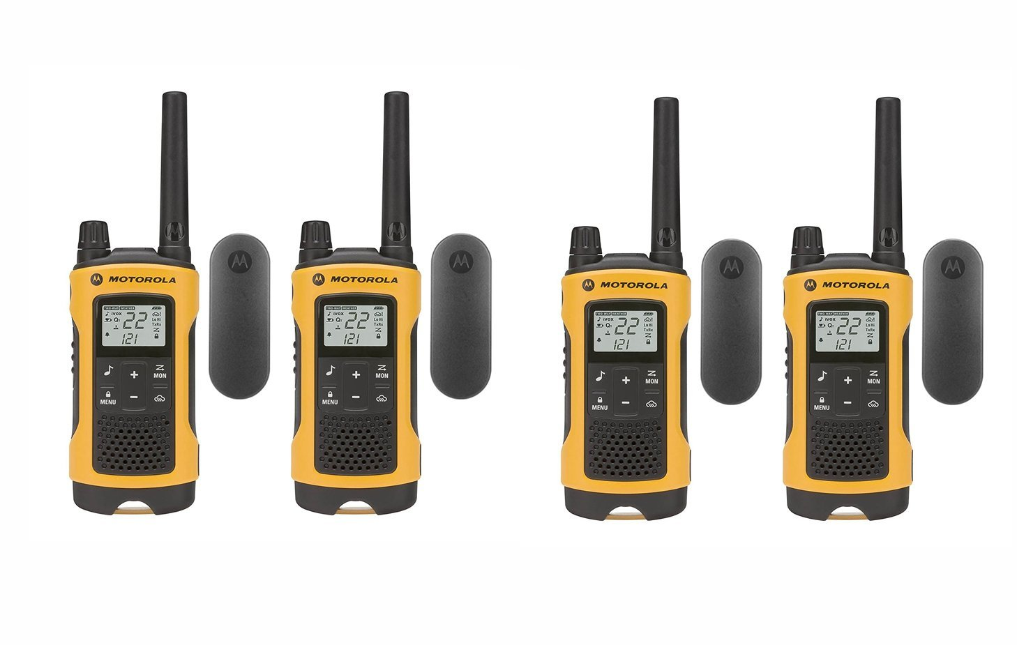 Motorola Talkabout T402 FRS GMRS Two-Way Radio 4-Pack