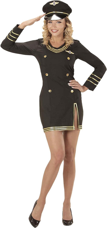 WIDMANN wdm06851 ? Disfraz Capitán Piloto, Negro, Small: Amazon.es ...