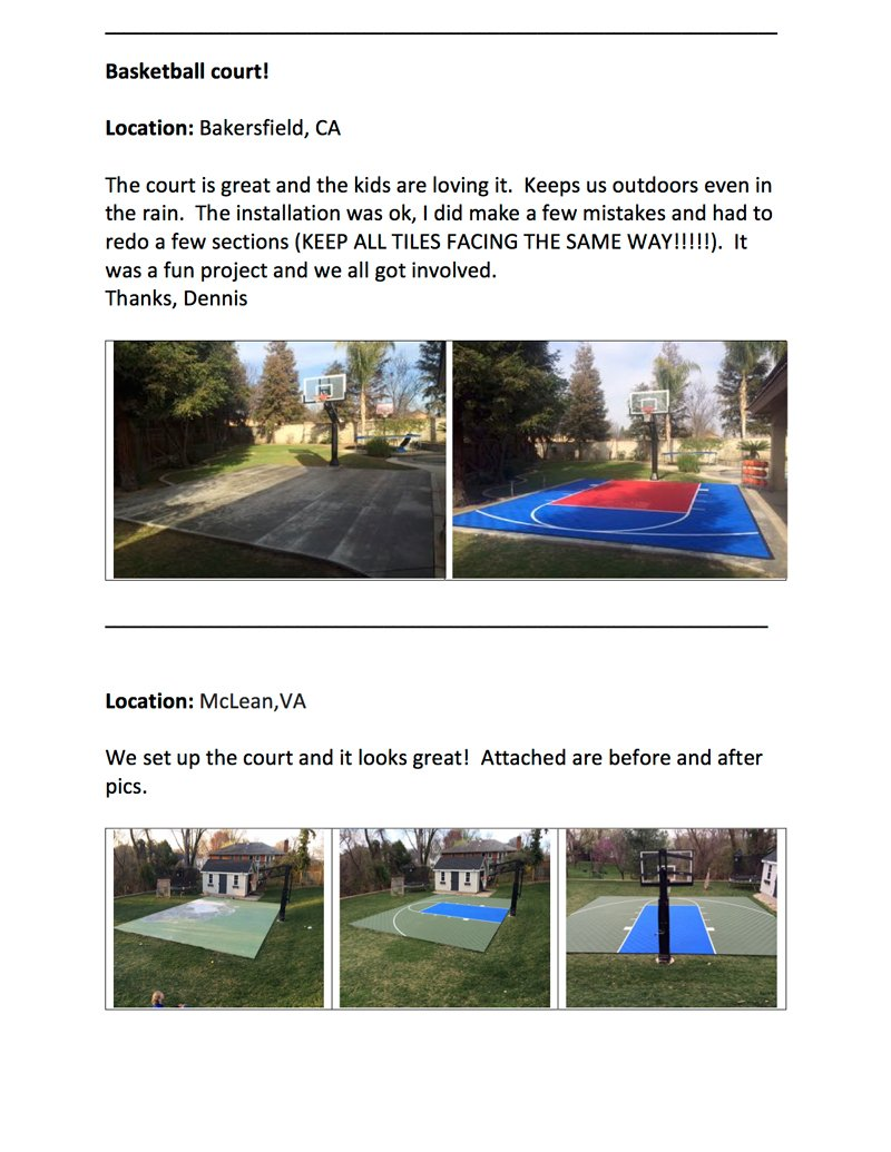 amazon com outdoor basketball half court kit 20ft x 24ft lines