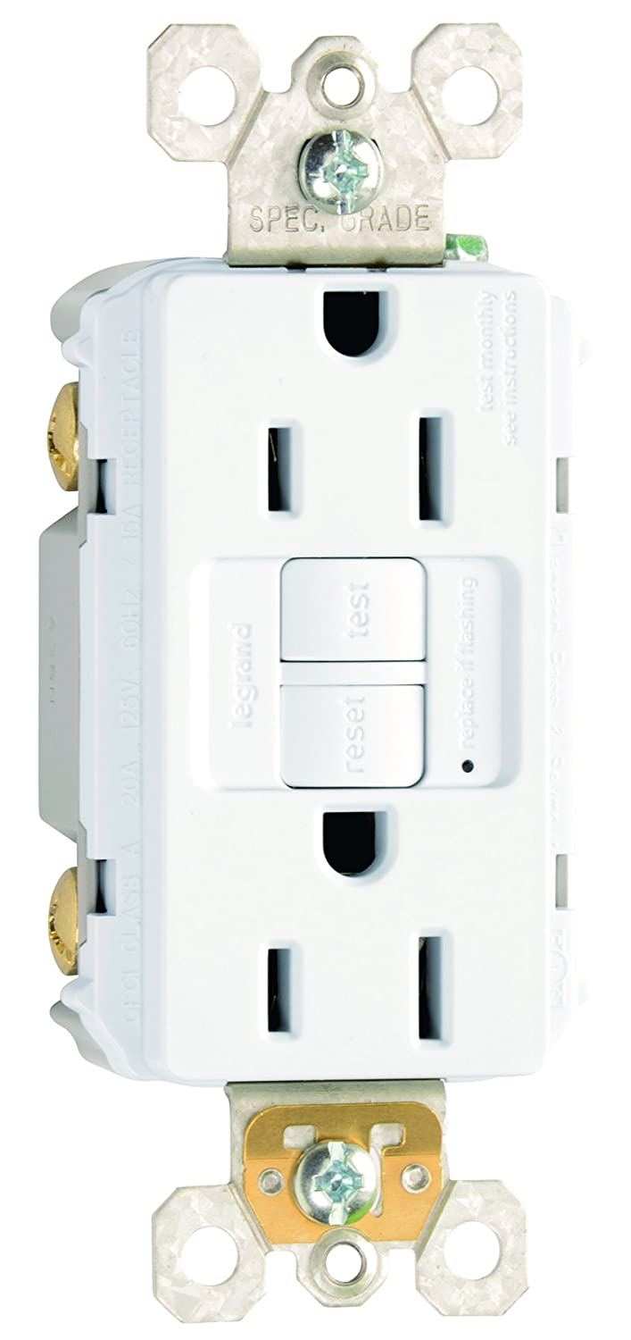 Legrand-Pass & Seymour 1597W3PKCC4 SELF TEST GFCI REC 15A 125V 3 PAK W SELF TEST GFCI REC 15A 125V 3 PAK W