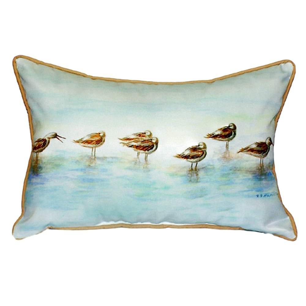 Betsy Drake SN024 Avocets Small Indoor//Outdoor Pillow 11 x14