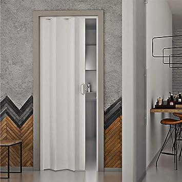 Puerta a Fuelle de interior de PVC 83 x 214 cm Saba Dalia blanca Pastel: Amazon.es: Bricolaje y herramientas