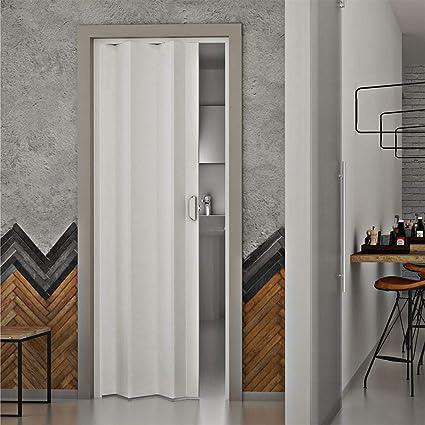 Porta a Soffietto da Interno 83x214 cm in PVC Saba Dalia Bianca Pastello