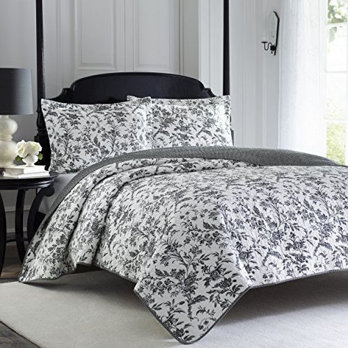 Laura Ashley Amberley Quilt Set, Twin (Online Shopping Comforters)