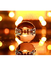 Clear Crystal Ball with Stand Art Decor K9 Crystal Prop for Photography Decoration Gift (110mm)