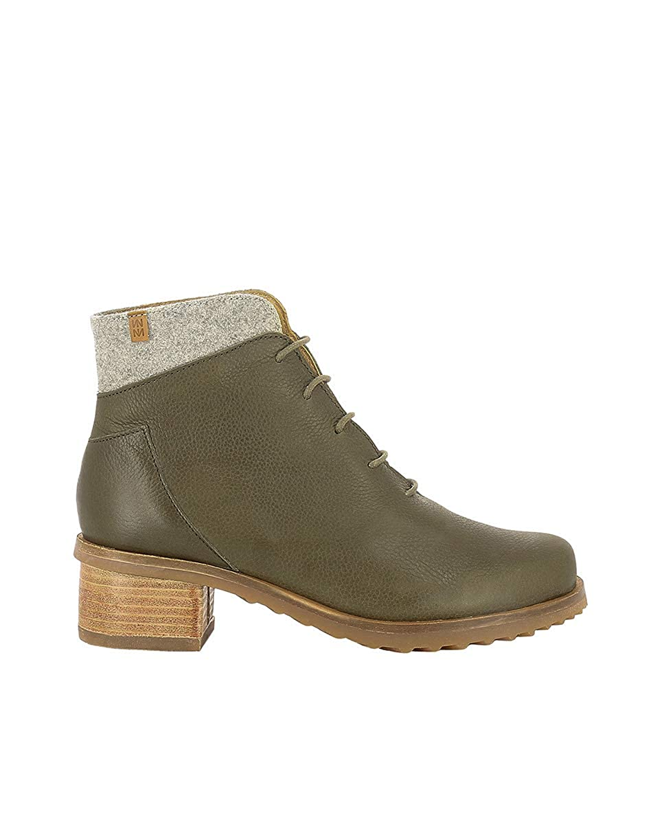 El Naturalista N5108 Soft Grain-Premium Wool Olive Kentia Hoher Grün Damen Schnürstiefel Mit Hoher Kentia Absatz Schnürsenkel c13c40