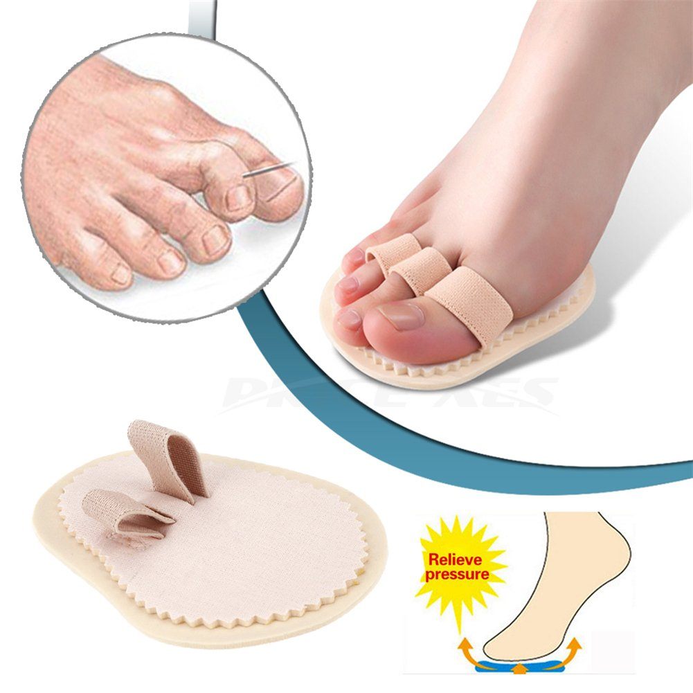 Toe Splint & Straightener, Adjustable Loops Hammer Toe Correctors Brace w/Slip-on Cushion Metatarsal Pads for Claw Curled & Crooked Toes - Support Guard for Pre Post Surgery (2 loops)