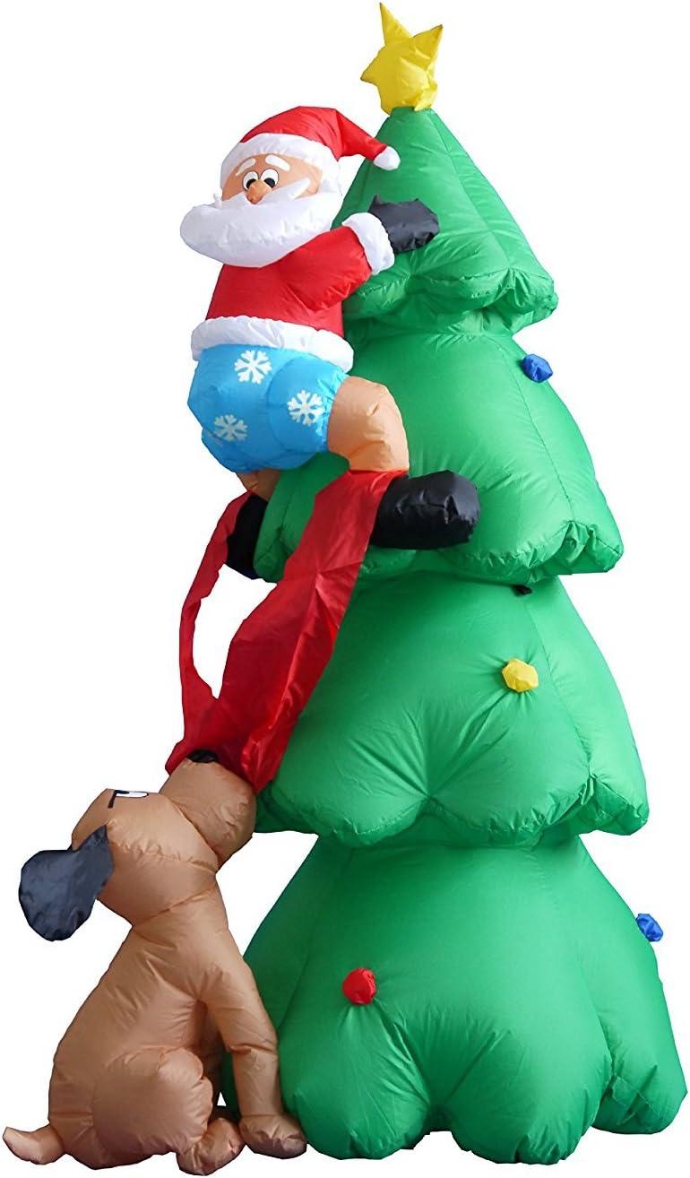 6 pies Navidad inflable Airblown Santa Claus Escalada Árbol ...
