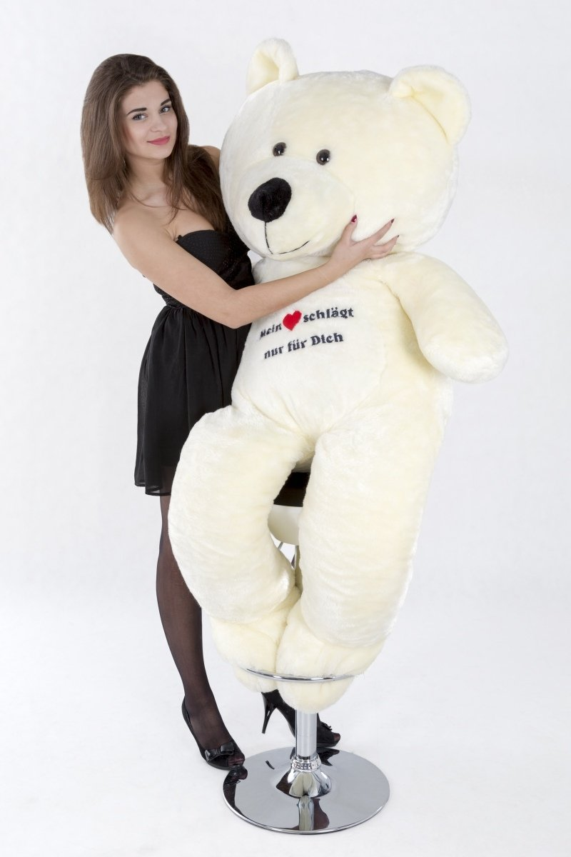 Weiß Large Giant Big Teddy Bear Soft Plush Toys Gift with Embroidery (colour  Weiß)