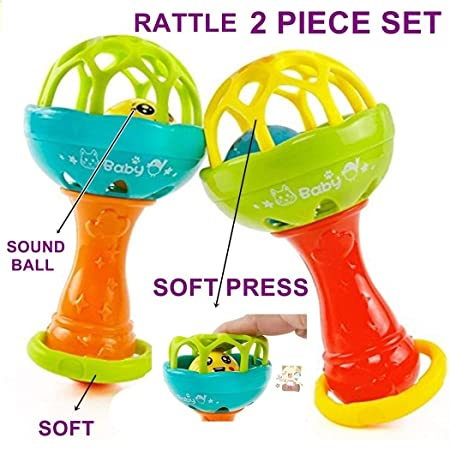 Babytintin Colorful Flexible Attractive Non Toxic Rattle Set for Babies,Toddlers,Infants,Child (3369)