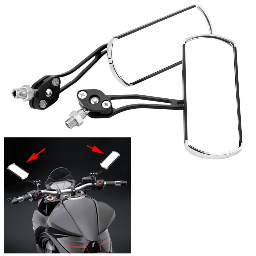 Keenso regolabile in alluminio manubrio retrovisore moto specchietti laterali 10/mm 8/mm 1/paio di specchietti retrovisori laterali per moto universale