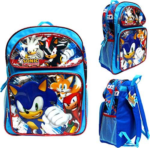 "Price comparison product image Sonic The Hedgehog 16"" Large School Backpack"