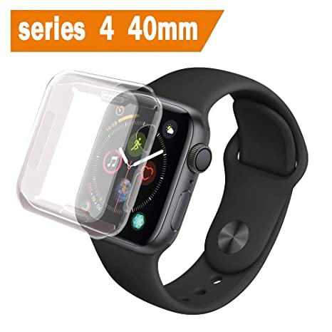 ALOUCH Coque Apple Watch Series 4 40mm, iWatch 4 Case Protection Ecran Couverture Complète Ultra