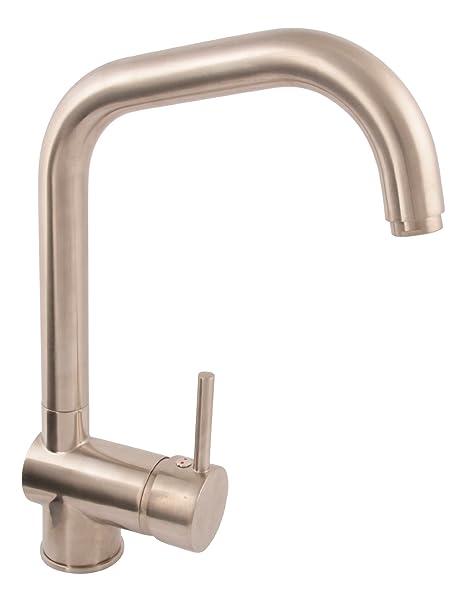 AquaSu 78023 0 Spültischarmatur Larina, Küchenarmatur Umklappbar,  Unterfenstermontage, Vorfenstermontage, Einhandmischer Spüle, Wasserhahn,  ...