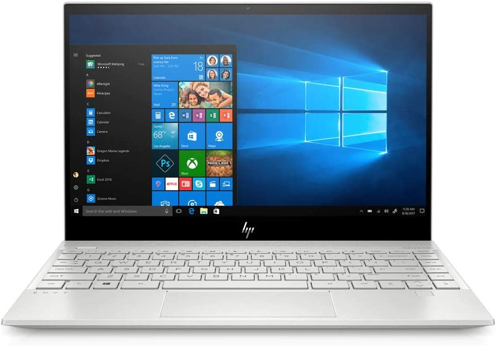 """HP Envy 13.3"""" FHD Touchscreen Home and Business Laptop Core i5-8265U, 8GB RAM, 256GB SSD, Bluetooth 5.0, FP Reader, USB-C, UHD Graphics 620, 4 Core up to 3.90 GHz, Win 10"""