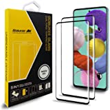 [2 Pack] GOBUKEE Samsung Galaxy A51 Screen Protector [Full Coverage] [3D Edge] 9H-Hardness HD Clear Anti-Scratch No-Bubble Tempered Glass Screen Protector for Samsung Galaxy A51 [Black]