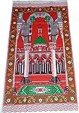 Portable Travel Prayer Mat Muslim Islamic Outdoor Namaz Sajadah Thin Cloth Red