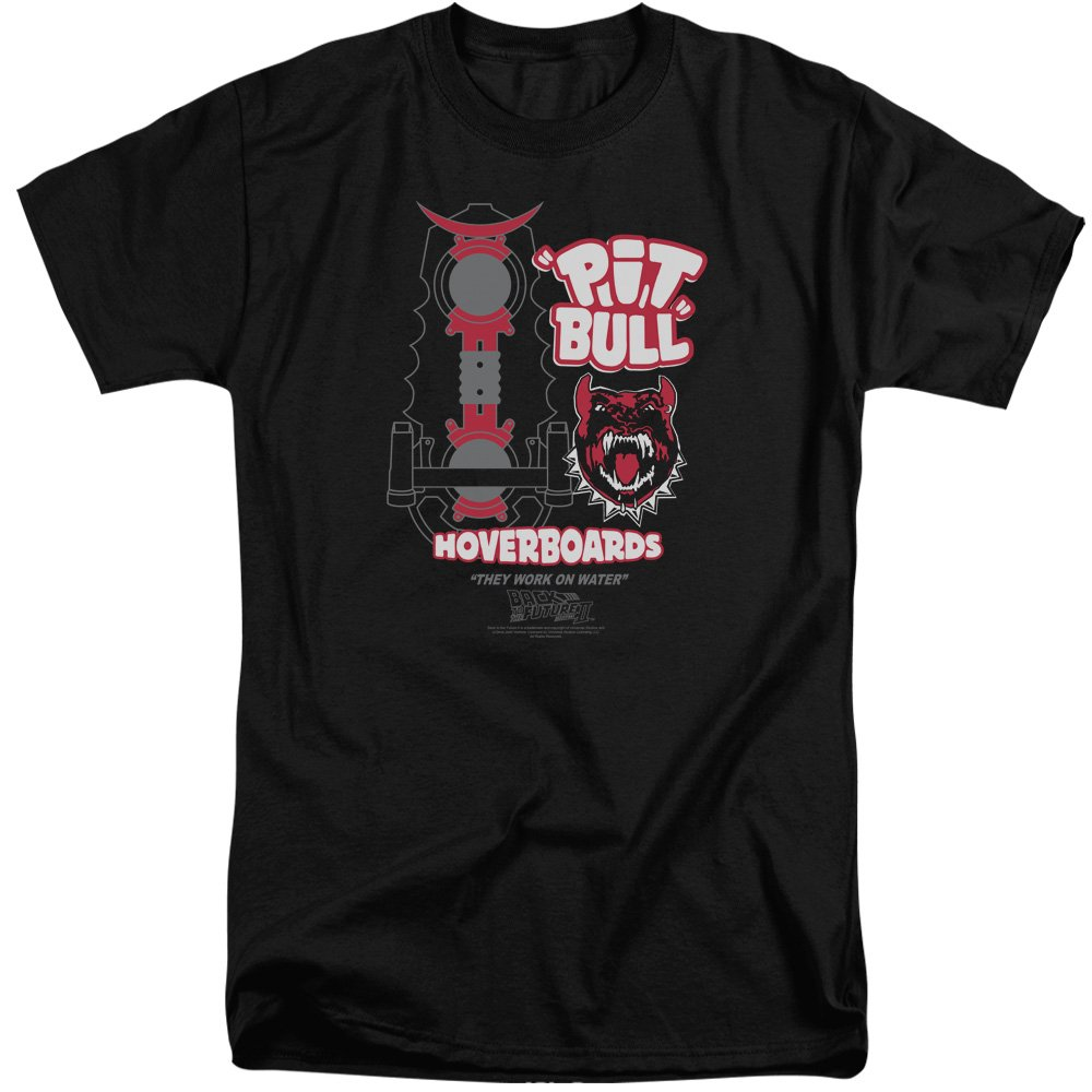 Black Back To The Future II  Mens Pit Bull Tall TShirt