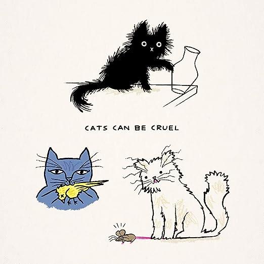 iota illustration - Póster de Gatos Pueden ser Cruel: Amazon.es: Hogar